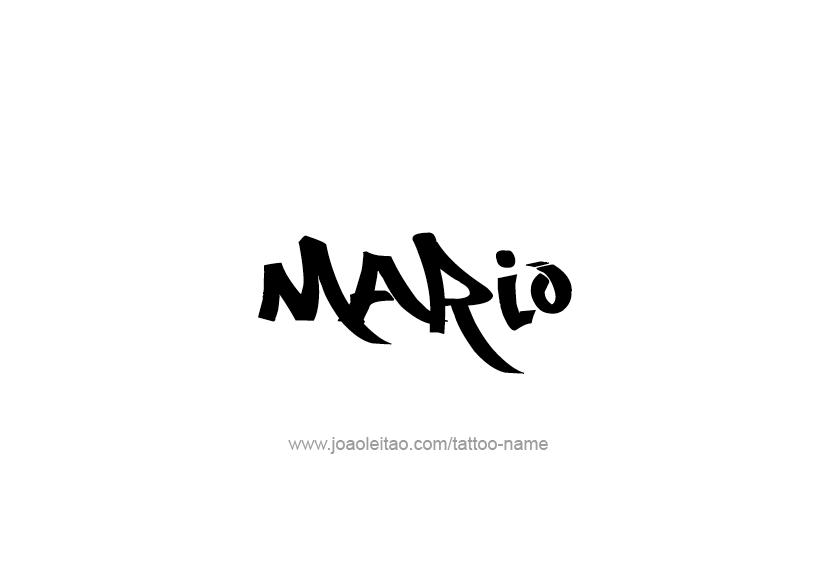 Mario Name Tattoo Designs Name Tattoos Name Tattoo Designs Mario Tattoo