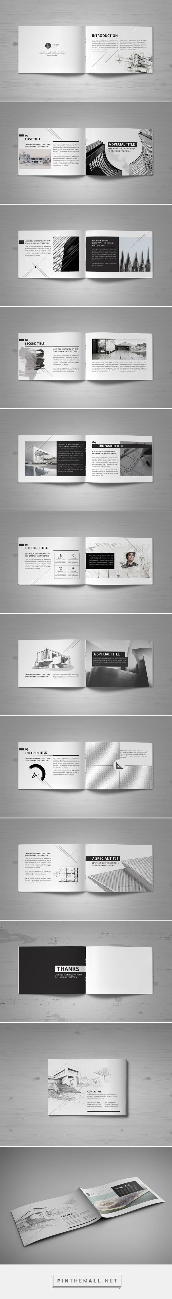 minimal modern black white architecture brochure by mohammed al