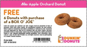 photograph relating to Printable Dunkin Donuts Coupons named Purchase this sort of Dunkin Donuts Printable Coupon a Totally free 6 Donuts