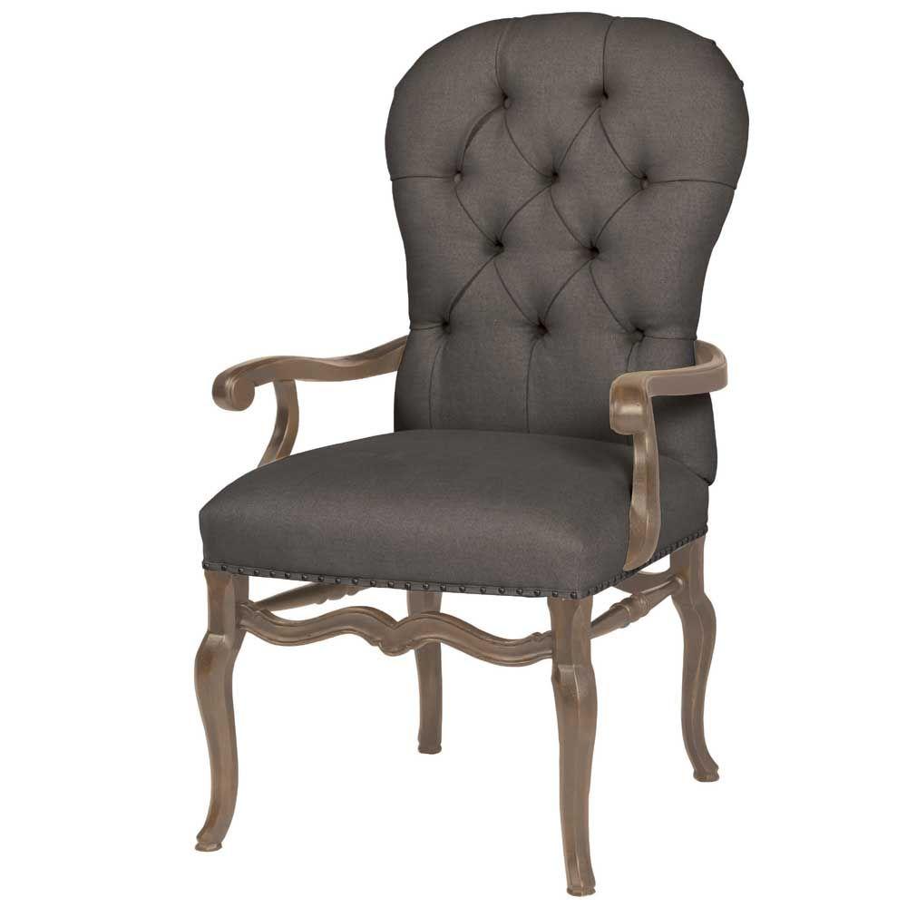 Best Bernhardt Belgian Oak Upholstered Arm Chair Set Of 2 400 x 300