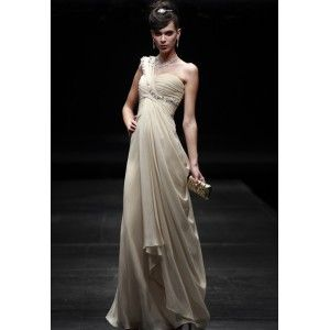 COOLでカッコイイストーン装飾ワンショルダーイブニングドレス80608