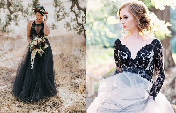 Een Zwarte Trouwjurk Zo Mooi Kan Het Zijn Fotoshoot Bruid