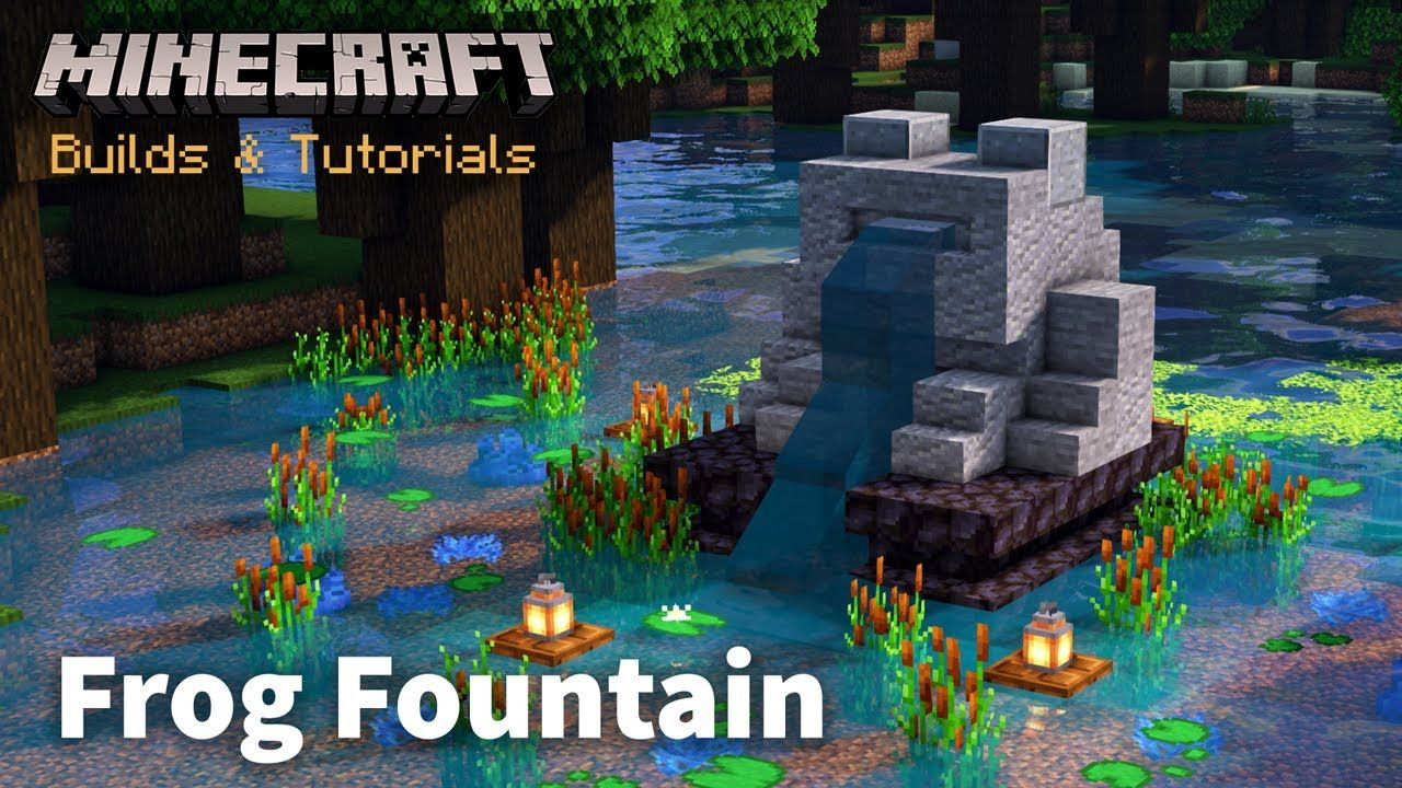 Automatic Frog Fountain - Minecraft Tutorial