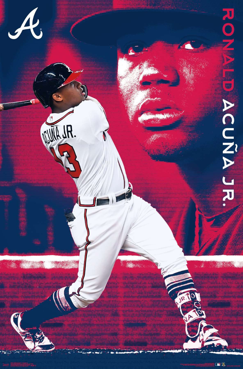 Mlb Atlanta Braves Ronald Acuna Jr 19 In 2020 Braves Atlanta Braves Wallpaper Atlanta Braves