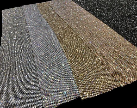 9342f2f3a3 Black Rhinestone Sheet 1/2 Rhinestone Sheet Black Crystal | senior ...