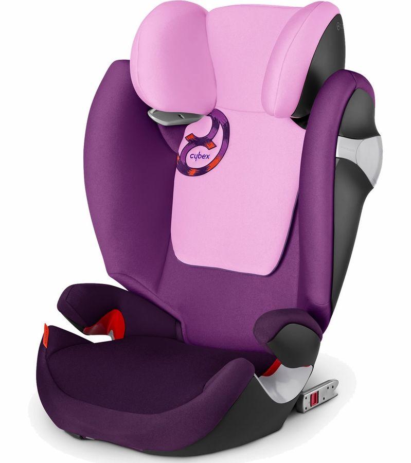 Cybex Solution M Fix Booster Car Seat Grape Juice Booster Car Seat Baby Car Seats Cybex