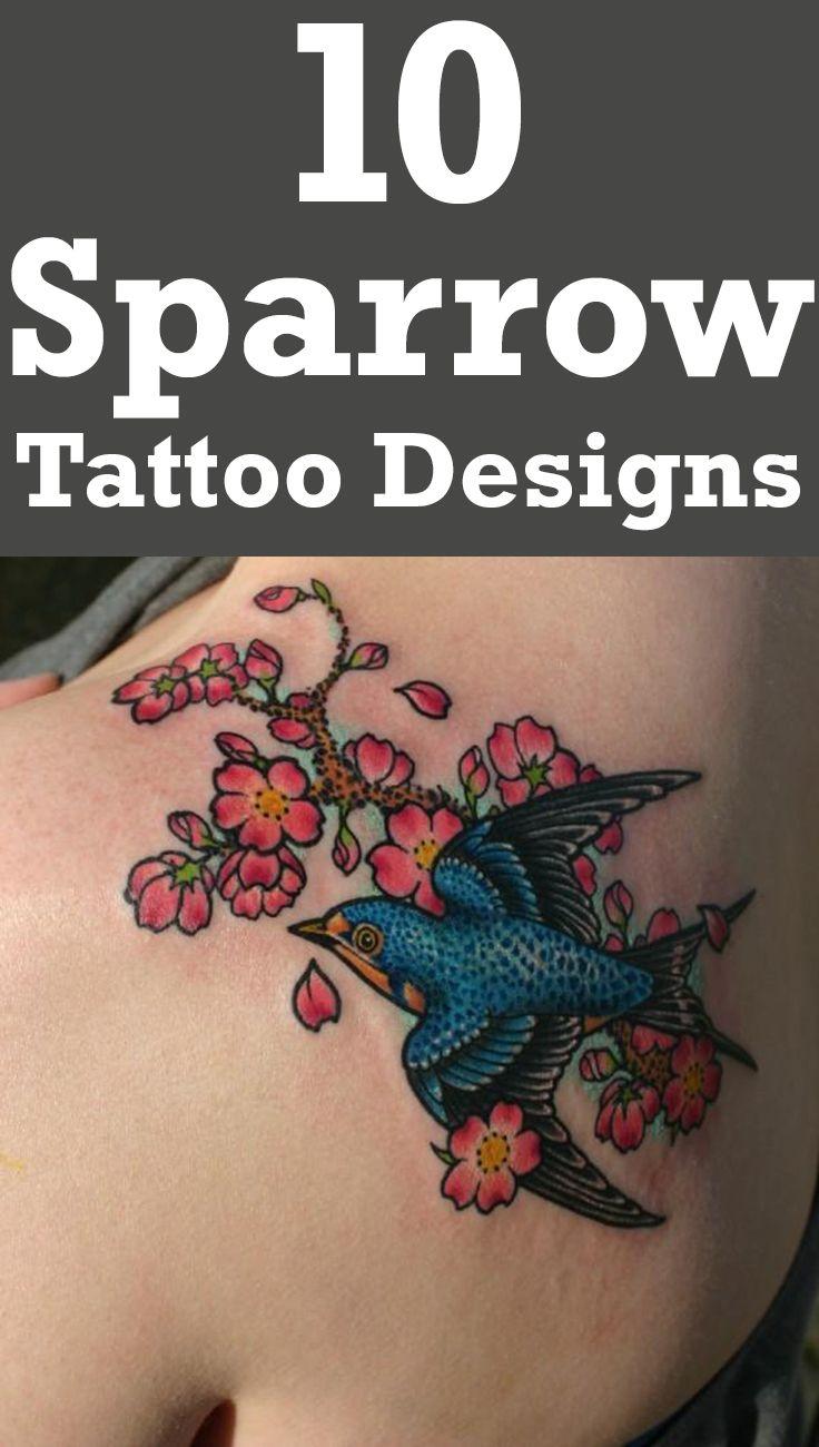 12 Inspiring Swallow And Sparrow Tattoos Tattoo Ideas Pinterest