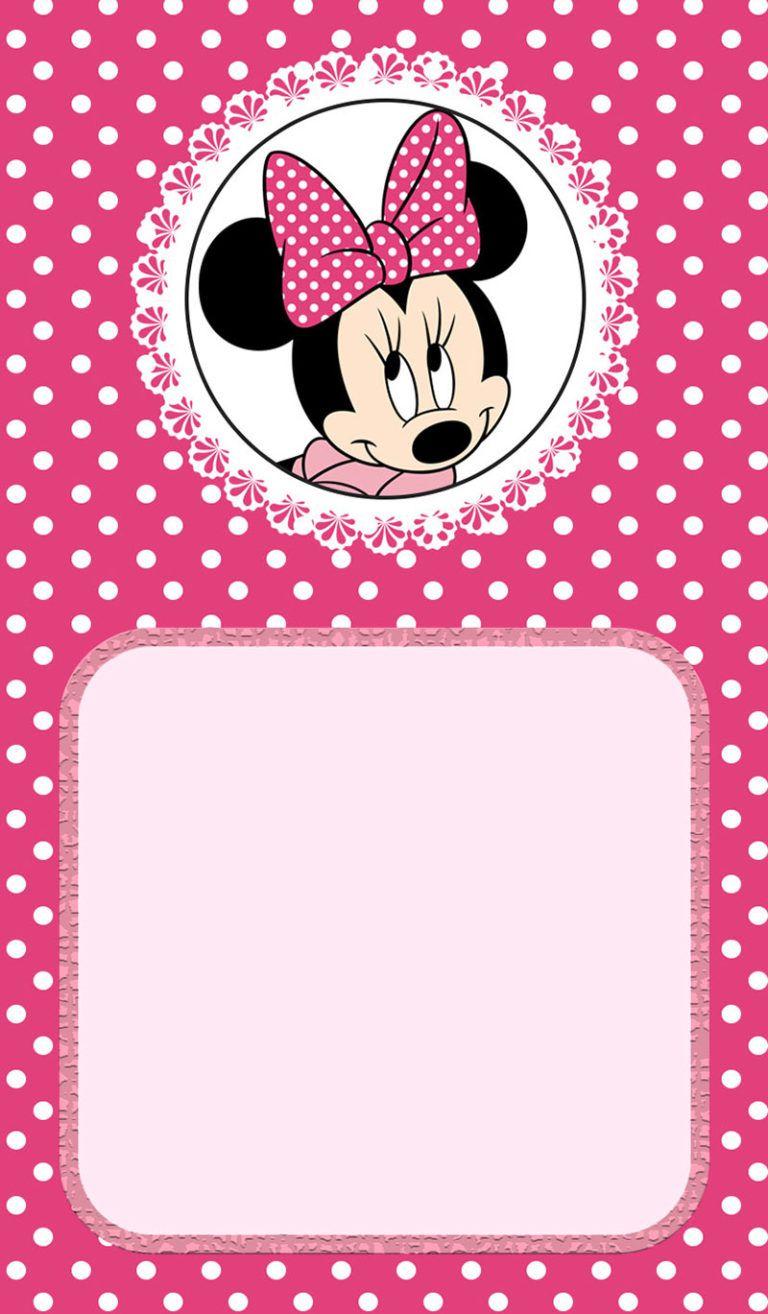 Minnie Mouse Birthday Invitation Kartu Kertas Ulang Tahun Kartu