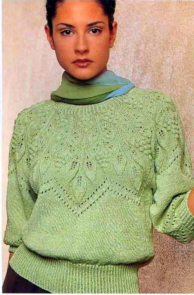 вязание круглой кокетки спицами сверху схема Knitting вязание