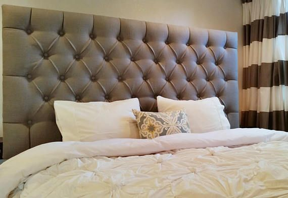 READY TO SHIP - Tufted upholstered headboard - wall mounted - king ...