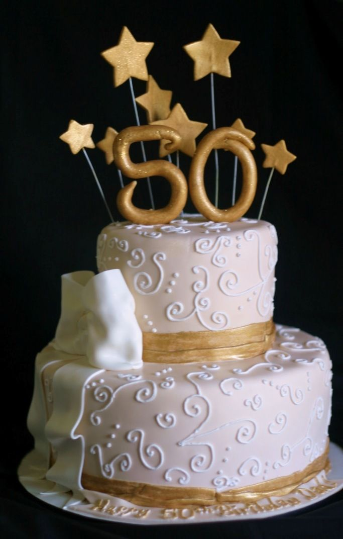 50th Birthday Cake cakes Pinterest Birthday cakes 50th and