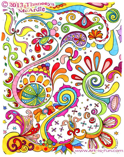 Free printable abstract page to color fun way to teach about different kinds of art