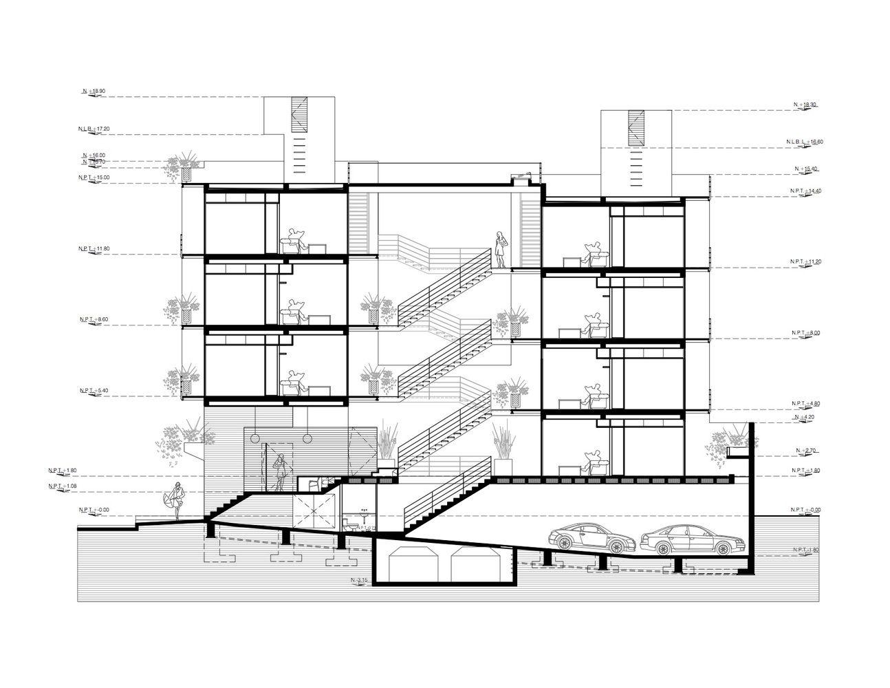 Galer a de oriente 7 16 accidental 17 galer as el for Cortes arquitectonicos