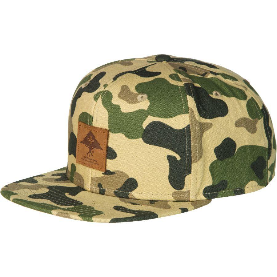 LRG ROOTS FOUNDATION CAMO SNAPBACK HAT