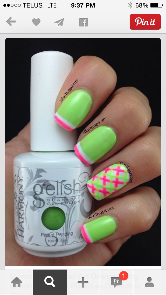 Pin by Tara Luce on Girly Nail Design | Plaid nails, Plaid ...