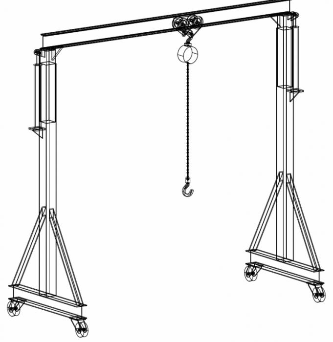 2 Ton Gantry Crane Welding Plans Welding Table Welding Projects Welding