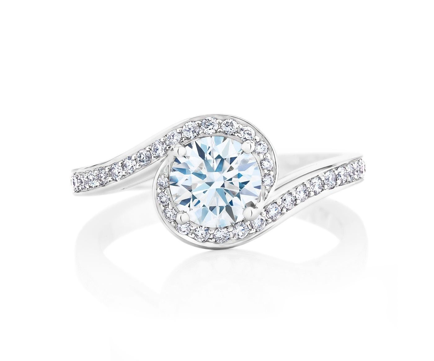 Caress solitaire ring in style pinterest de beers