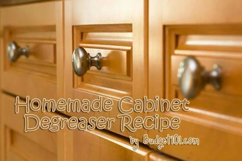 DYI Cabinet cleaner   Homemade cleaning solutions, Grease ...