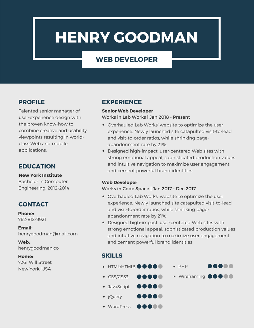 template for a professional resume Professional Resume Templates - Canva