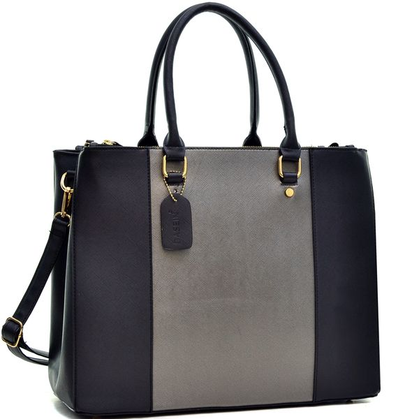 Dasein 3 Compartment Large Classic Tote Bag by Dasein | Totes ...