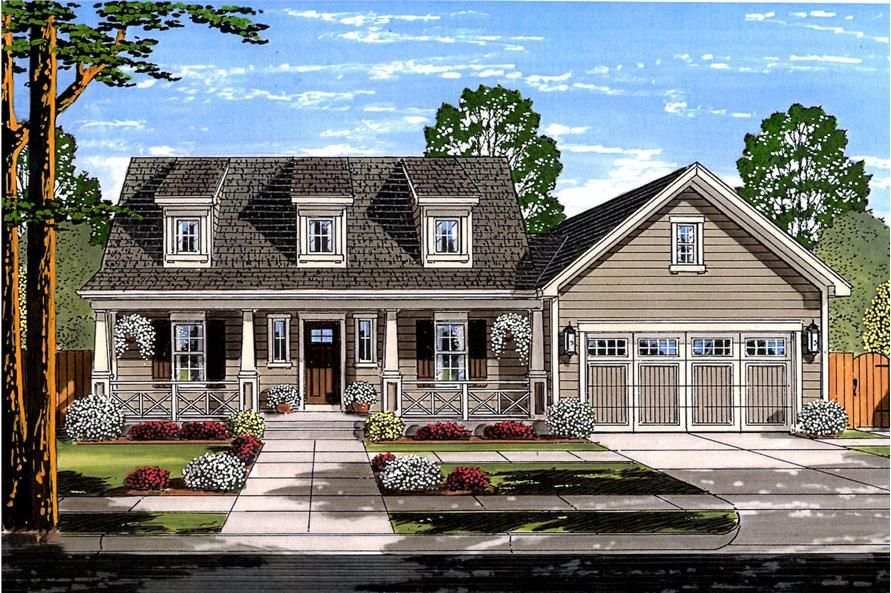 Cape Cod House Plan - 3 Bedrms, 2.5 Baths - 1664 Sq Ft ...