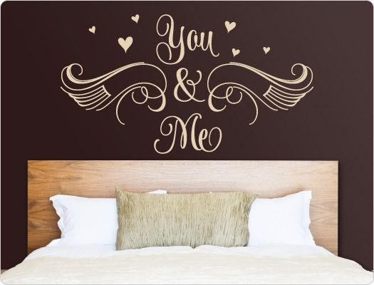schlafzimmer wandtattoo you me wandsticker liebe beziehung partnerschaft pinterest. Black Bedroom Furniture Sets. Home Design Ideas