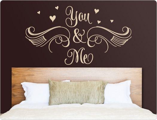Schlafzimmer Wandtattoo You & Me | Wandsticker Liebe, Beziehung ...