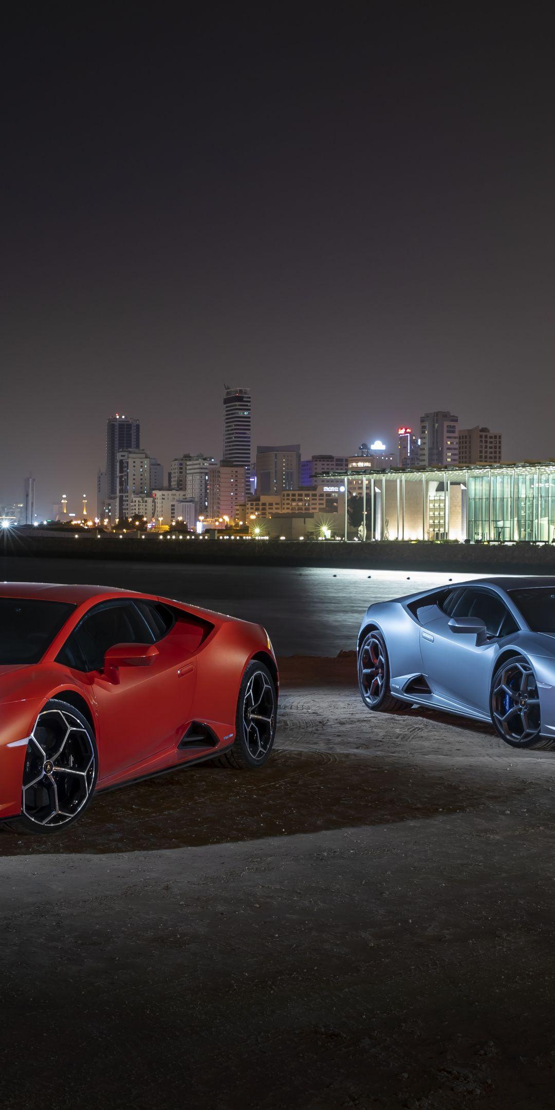 2019 Lamborghini Huracan Evo Red And Blue Cars 1080x2160