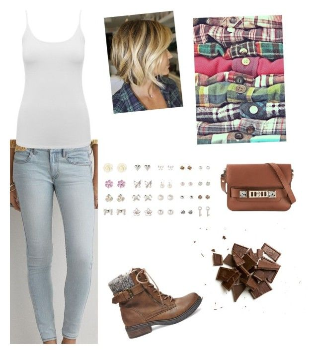 """""""Everyday style"""" by yellowsnails on Polyvore featuring American Eagle Outfitters, M&Co, Steve Madden, Proenza Schouler, women's clothing, women, female, woman, misses and juniors"""