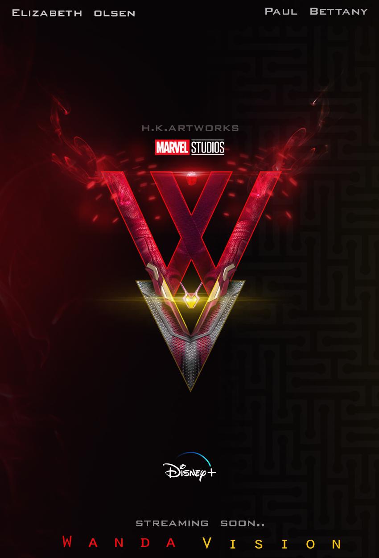 Wanda Vision Concept Logo By Me Wanda And Vision Marvel Disney Marvel