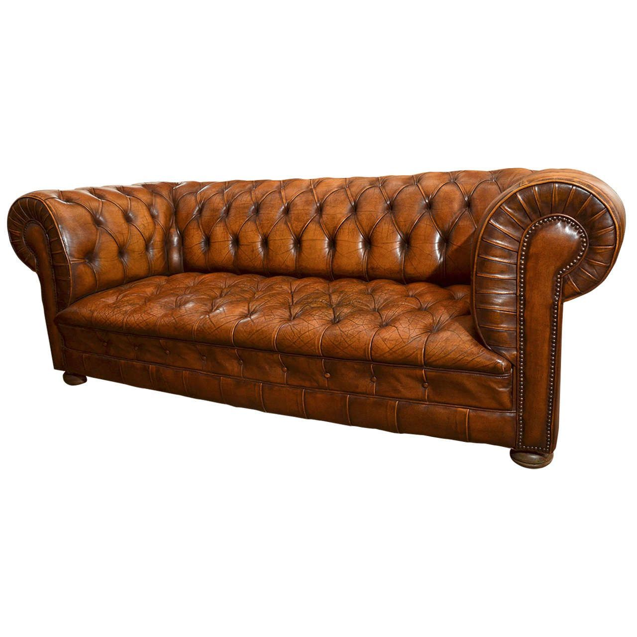 Chesterfield Clubsessel French 1970 S Chesterfield Sofa With Cognac Leather Home