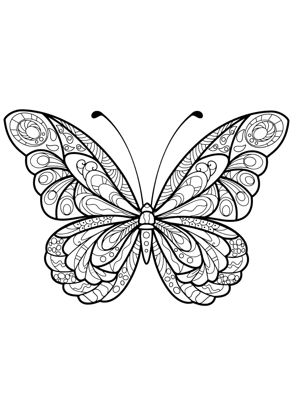 Icolor Butterflies Butterfly Coloring Page Butterfly Drawing Butterfly Mandala [ 1413 x 1000 Pixel ]