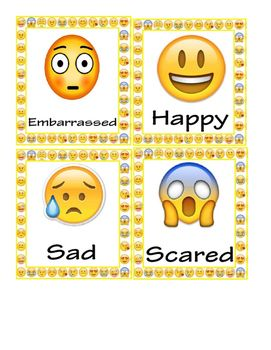 Emoji Emotions Flash Cards Posters Flashcards Emotions