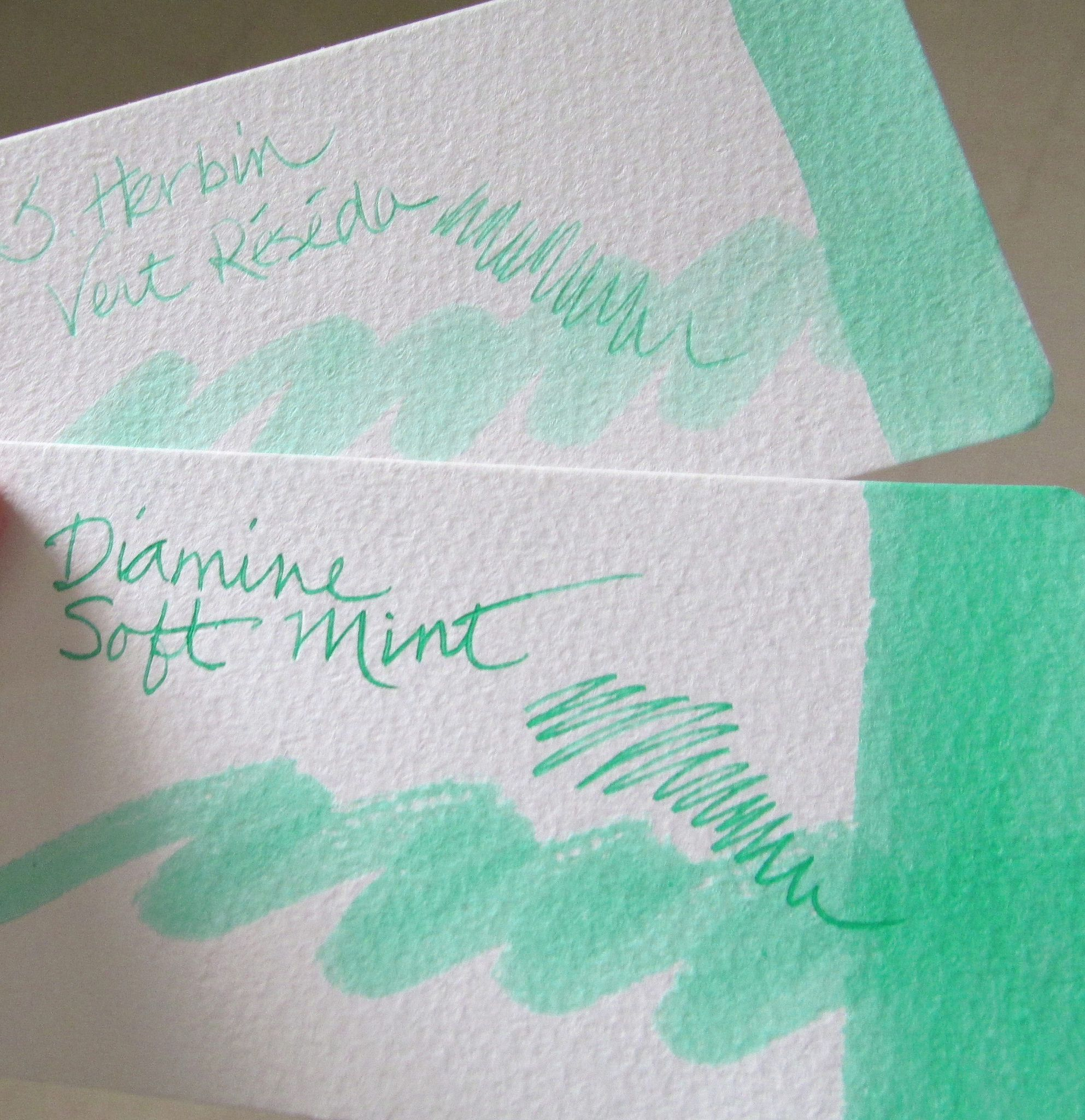 Vert Reseda And Soft Mint Fountain Pen Inks