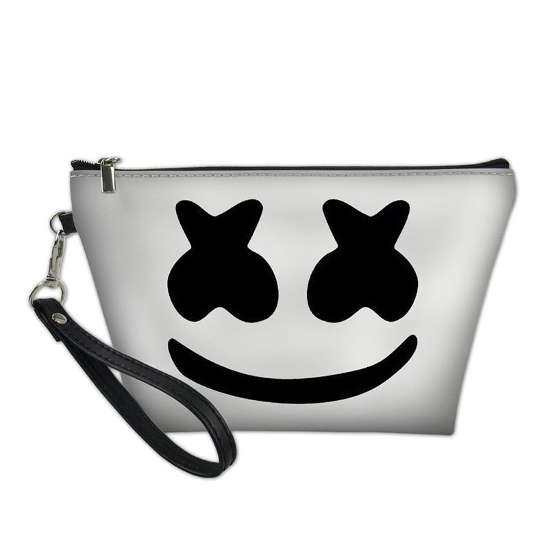 fa2894c6abc5 Find More Cosmetic Bags   Cases Information about Marshmello Women Cosmetic  Makeup Bags for Cute Cartoon