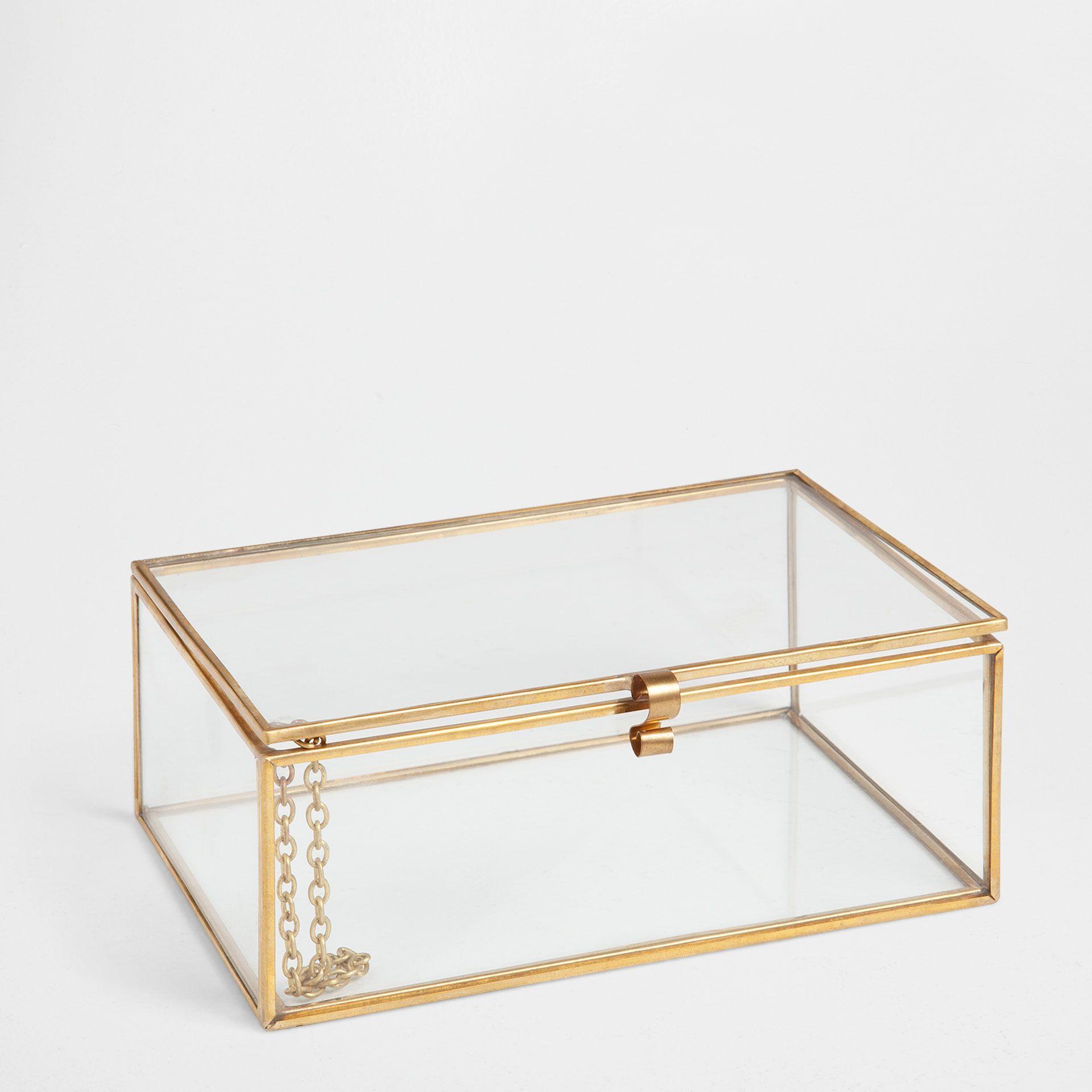 Caja vidrio y metal cajas decoraci n zara home - Zara home es ...