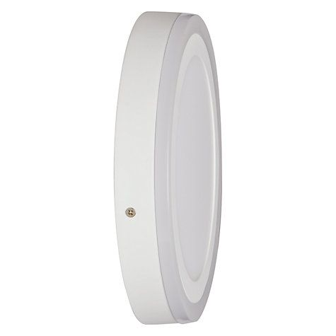 Buy John Lewis Portella LED Flush Light, White Online at johnlewis.com