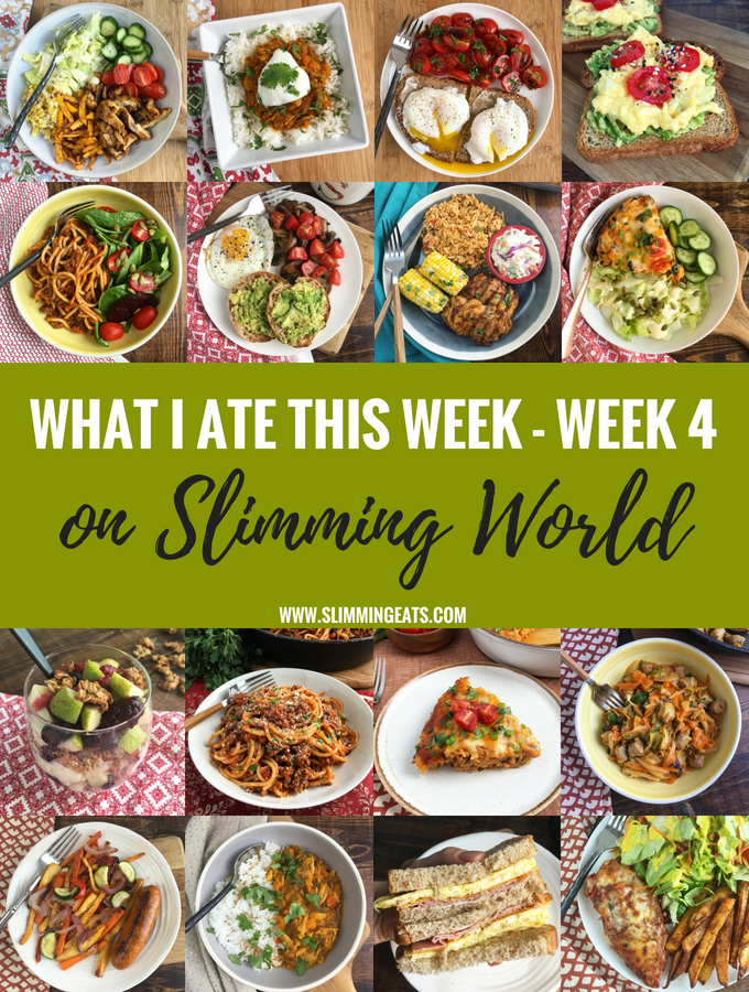What I Ate This Week on Slimming World Week 4 My new