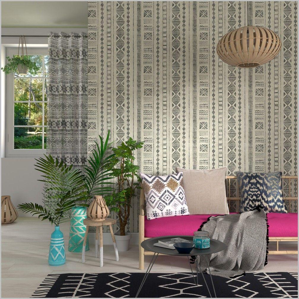 Papier Peint Intisse Cuisine 4 Murs In 2020 Wallcovering Bedroom Home Decor Cosy Living Room