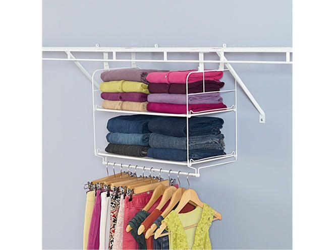Closet Helper Shelf And Hang Unit Closet Organization Bins