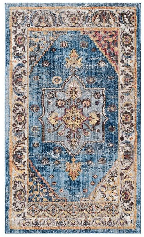 Safavieh Bristol Blue And Ivory 3 X 5 Area Rug In 2019 Floral