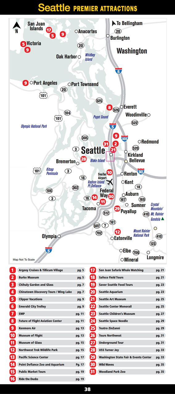 Http Www Seattleattractions Com Map Seattle Vacation Washington Travel Seattle Travel