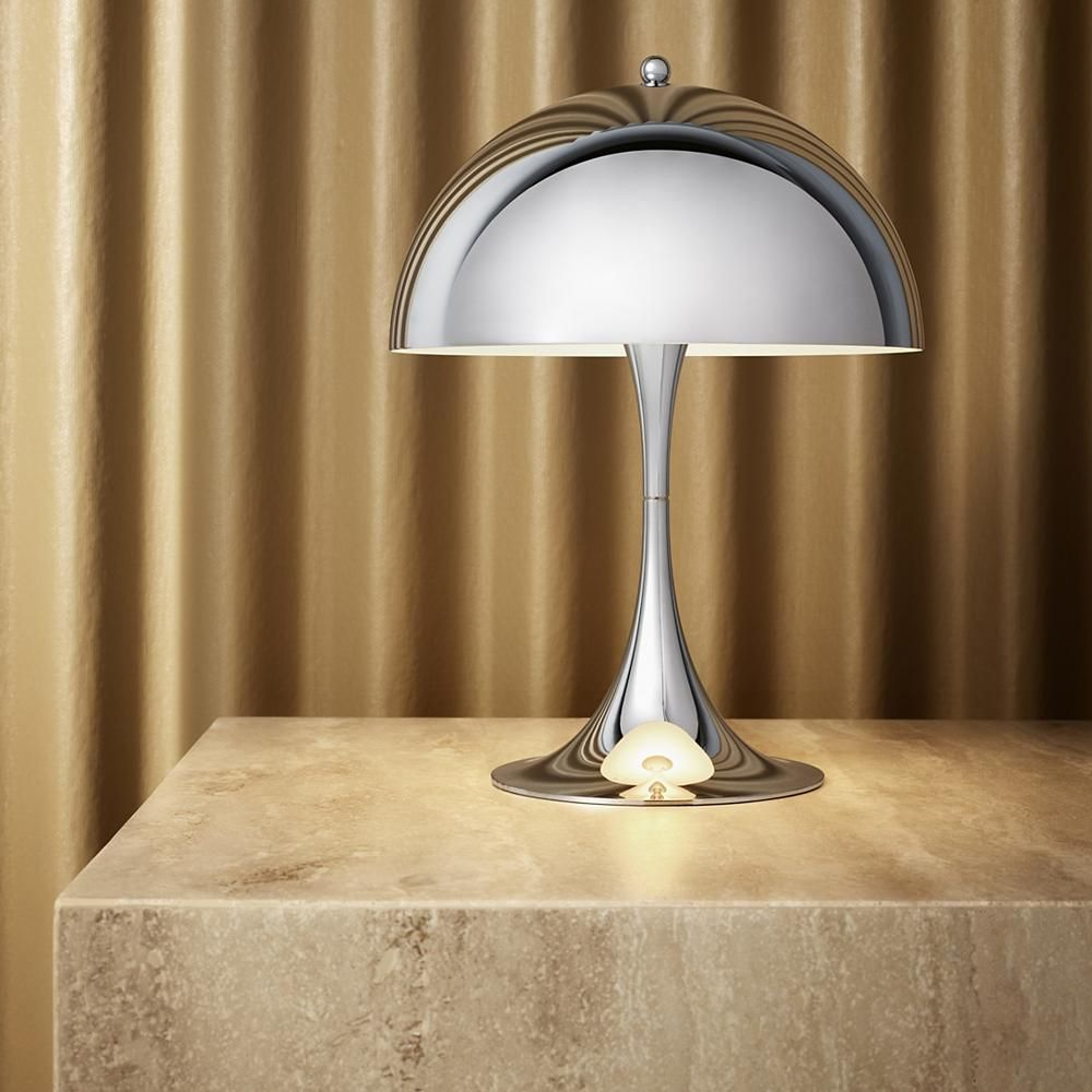 Panthella Mini Led Table Lamp In Chrome Table Lamp Best Desk Lamp Led Desk Lamp