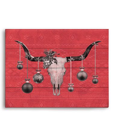 Red Ornament Rack Wall Art #zulily #zulilyfinds
