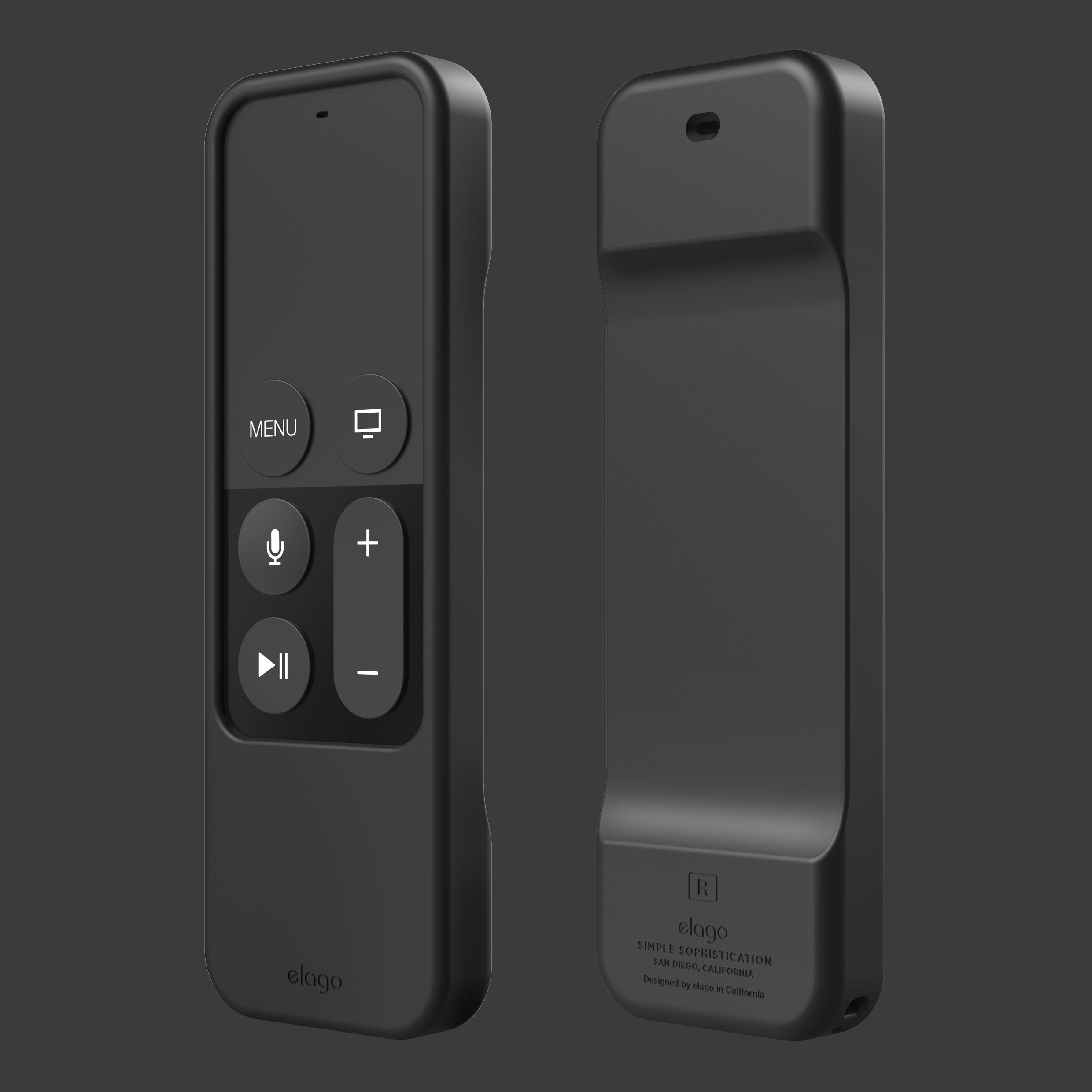 elago R1 Intelli Case for Apple TV Siri Remote Black
