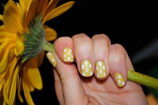 Yellow Polka Dot Nails