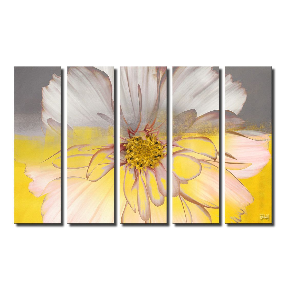 Painted Petals XXXIV by Alexis Bueno 5 Piece Graphic Art on Wrapped ...