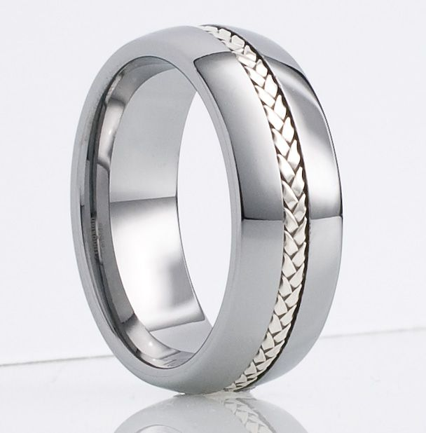 mens wedding bands Mens Tungsten Ring Wedding Band 8mm Size 16