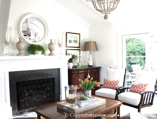 enchanting casual living room chairs | The Enchanted Home: Bloggers beautiful abodes...Mary Ann ...