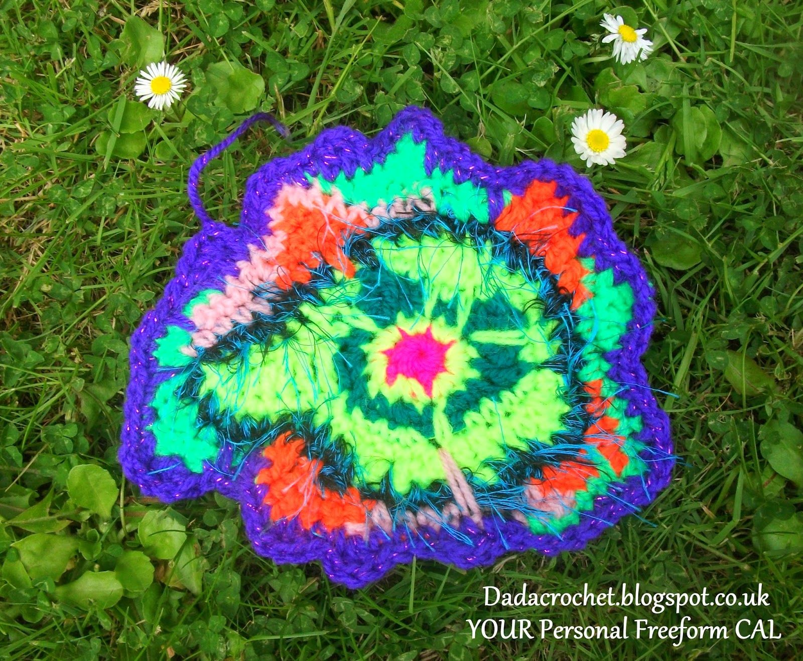 Excellent exercise to get started with freeform: Dada Neon Crochet: YOUR Personal Freeform CAL! - Week 1